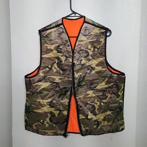 Vintage Camo Down Hunting Vest. AMAZING! Perfect!